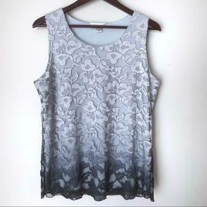 Christopher & Banks Lace Ombré Tank